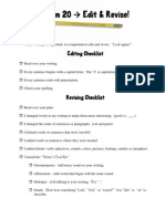 Editing & Revising Checklist