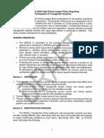 First draft of MSHSL Transgender policy