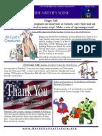 Nativity Scene Newsletter October 2014