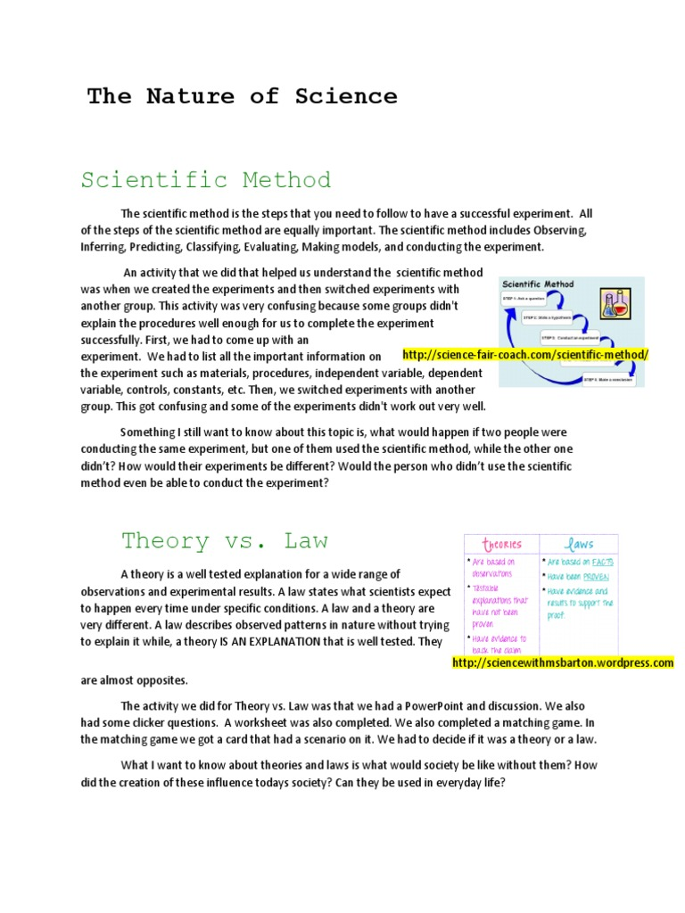 Worksheets The Nature Of Science Worksheet the nature of science experiment scientific method