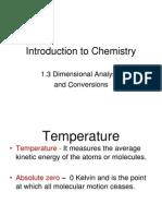1.3 Dimensional Analysis