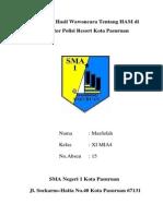 Laporan Hasil Wawan.,cara Tentang HAM Di Kantor Polisi Resort Kota Pasuruan
