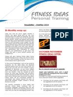 Fitness Ideas Newsletter - October 2014