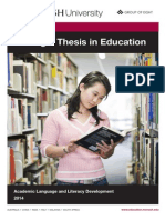 Booklet Writing a Thesis in Education