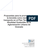 Propuestas para la promoción de la bicicleta como medio de transporte en el Plan Territorial de Movilidad Sostenible de la Aglomeración Urbana de Granada