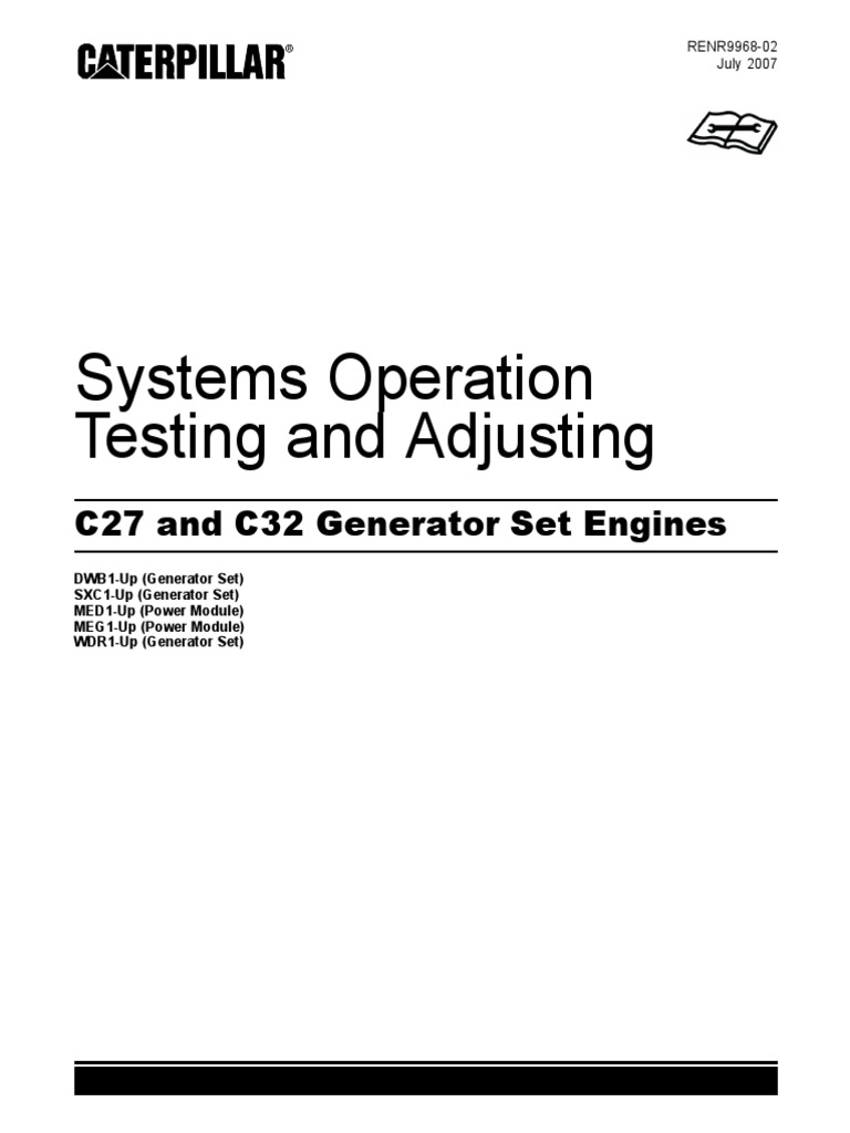 C27 and C32 Generator Set Engines _ Systems Operation _ Testing and ...