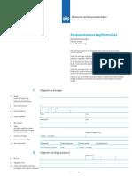 Formulir Permohonan Paspor BELGIA