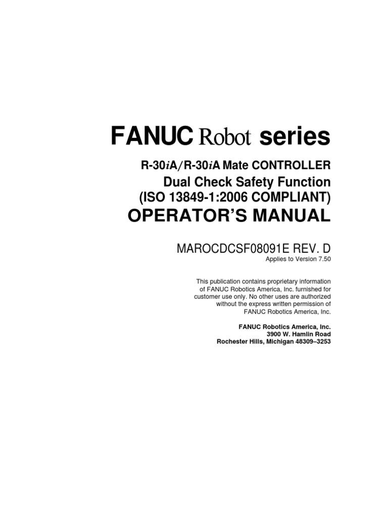 dcs operator manual safety robot rh scribd com fanuc r30ia programming manual fanuc r30ia maintenance manual