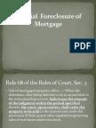 Judicial Foreclosure of Mortgage