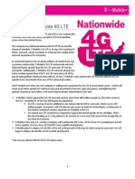 T-Mobile Nationwide 4G LTE Fact Sheet