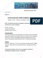 24-Hour Major Crime Summary Report