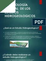 METODOLOGÍA GENERAL  DE LOS ESTUDIOS HIDROGEOLOGICOS.pptx