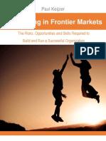 Succeeding in Frontier Markets