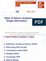 Rate of Return Analysis