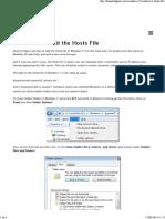 Hosts File - Windows 7 - Edit the - Cópia.pdf