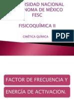 Factor de Frecuencia y Energia de Activacion