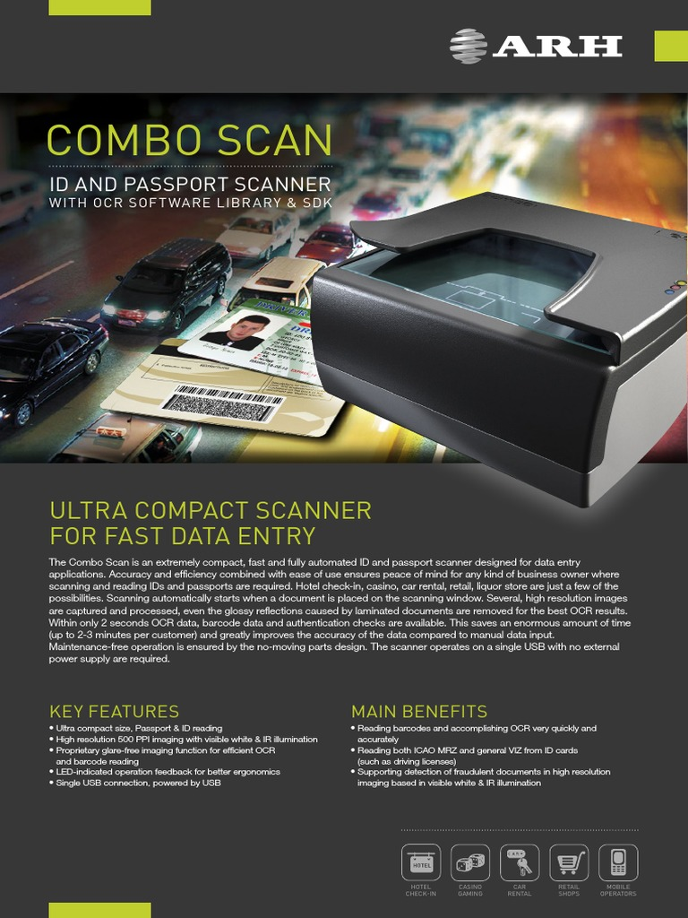 Arh Comboscan | Image Scanner | Optical Character Recognition