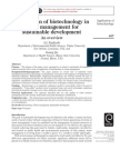 Application of Biotechnology in Waste Management for Sustainable Development an Overview