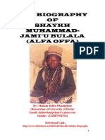 THE BIOGRAPHY OF  SHAYKH MUHAMMAD-JAMI'U BULALA (ALFA OFFA)