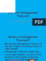 6-3 the Pythagorean Theorem