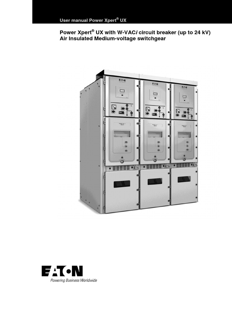 Power Xpert UX manual | High Voltage | Switch