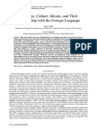 Language, Culture, Idioms, And Their Relationship With the Foreign Language