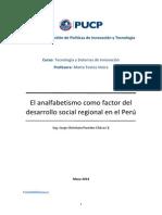 El Analfabetismo Como Factor Del Desarrollo Social Regional en El Perú v2