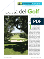 Golf in the Costa Del Sol Feature the Travel & Leisure Magazine November 09