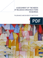 Assessment of the Needs of Religious Organizations in Georgia
