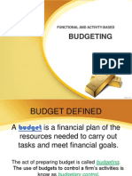 Budgeting and Payables