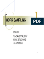 FUNDAMENTALS OF WORK STUDY AND ERGONOMICS