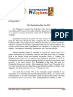 Press Release_PH is Destination of the Year 3 Oct 2014