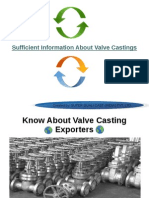 World Reputed globle exporters of quality valve casting
