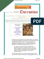 ElechElechtrochemistry of Corrosiontrochemistry of Corrosion