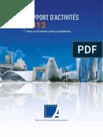 Rapport d'Activités 2013