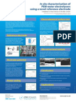 In situ characterisation of PEM water electrolysers using a novel reference electrode
