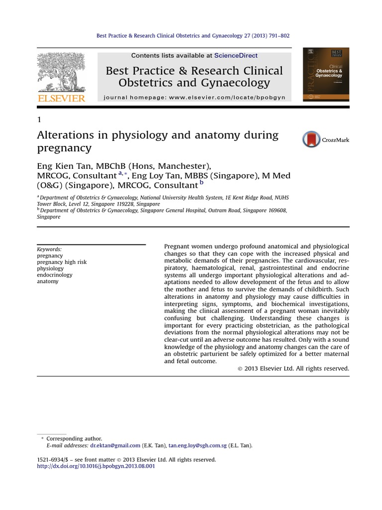 Alterations in physiology and anatomy during pregnancy.pdf | Thyroid ...