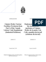 SOR-98-179 Ontario Hydro Nuclear Facilities Exclusion from Part I of the Canada Labour Code Regulations.pdf