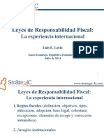 Leyes de Responsabilidad Fiscal - La Experiencia Internacional