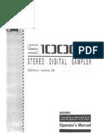 akai sampler S1000 V2.0 Manual