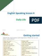 Speaking Lesson - 4