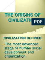 The Origins of Civilization