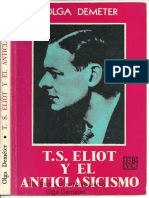 T.S. Eliot y el anticlasicismo, by O. Demeter