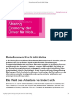"09/2014 ""T-Systems Blog ""Sharing Economy der Driver für Mobile Working"""