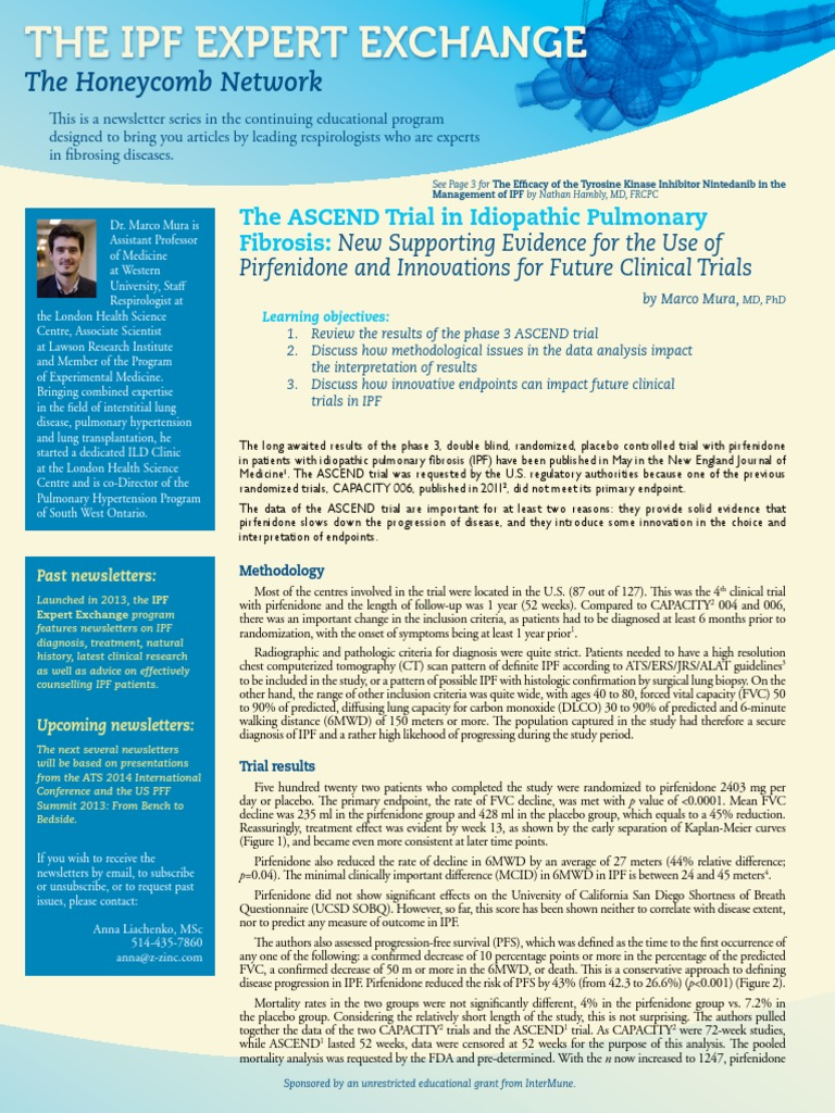 The ASCEND Trial in Idiopathic Pulmonary Fibrosis