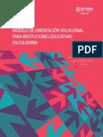 Modelo de Orientación Vocacional para Instituciones Educativas en Colombia