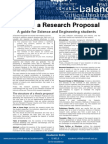 Writing a Research Proposal Science Engineering Update 051112 (2)