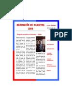 Informe de Gestión 2009 Carlos Galán