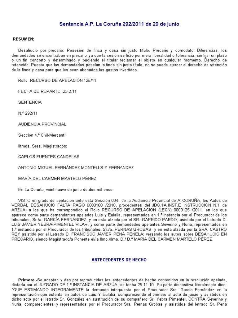 Sentencia A.P. La Coruña Deshaucio en precario.pdf