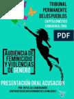 Presentación oral acusación de audiencia feminicidio y violencias de género TPP